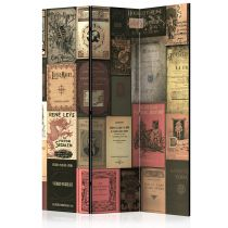 "Paravent 3 Volets ""Books of Paradise"" 135x172cm"