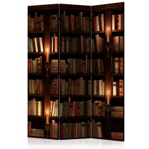 "Paravent 3 Volets ""Bookshelves"" 135x172cm"