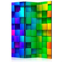 "Paravent 3 Volets ""Colourful Cubes"" 135x172cm"