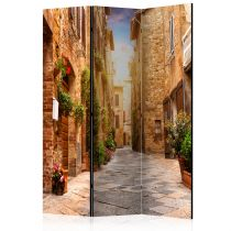 "Paravent 3 Volets ""Colourful Street in Tuscany"" 135x172cm"