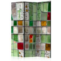 """Paravent 3 Volets """"Emerald Stained Glass"""" 135x172cm"""