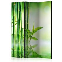 """Paravent 3 Volets """"Green Bamboo"""" 135x172cm"""