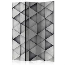 "Paravent 3 Volets ""Grey Triangles"" 135x172cm"