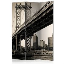 "Paravent 3 Volets ""Manhattan Bridge, New York"" 135x172cm"