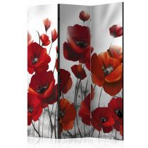 "Paravent 3 Volets ""Poppies in the Moonlight"" 135x172cm"