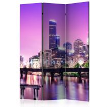 "Paravent 3 Volets ""Purple Melbourne"" 135x172cm"