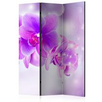 "Paravent 3 Volets ""Purple Orchids"" 135x172cm"