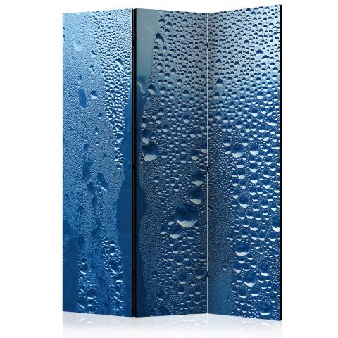 "Paravent 3 Volets ""Water Drops on Blue Glass"" 135x172cm"