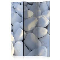 "Paravent 3 Volets ""White Pebbles"" 135x172cm"
