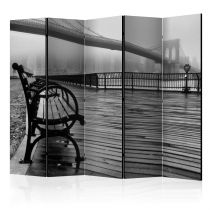 "Paravent 5 Volets ""A Foggy Day on the Brooklyn Bridge"" 172x225cm"
