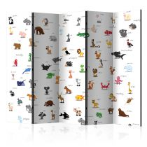 "Paravent 5 Volets ""Animals for Children"" 172x225cm"
