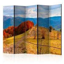 "Paravent 5 Volets ""Autumn Landscape in the Carpathian Mountains"" 172x225cm"