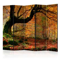 "Paravent 5 Volets ""Autumn, Forest & Leaves"" 172x225cm"