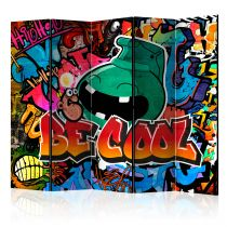 "Paravent 5 Volets ""Be Cool"" 172x225cm"