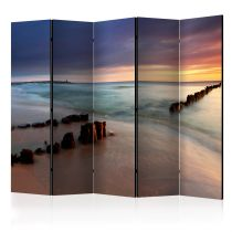 "Paravent 5 Volets ""Beach Sunrise"" 172x225cm"