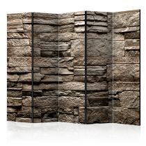 "Paravent 5 Volets ""Beautiful Brown Stone"" 172x225cm"