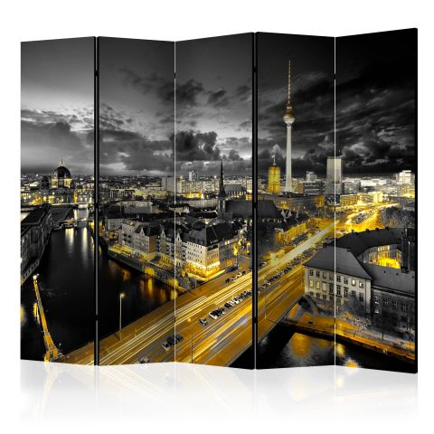 "Paravent 5 Volets ""Berlin at Night"" 172x225cm"