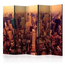"Paravent 5 Volets ""Bird Eye View of Manhattan, New York"" 172x225cm"