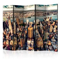 "Paravent 5 Volets ""Bird's Eye View of New York"" 172x225cm"