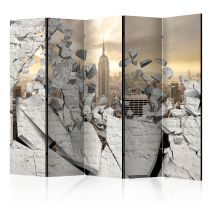 """Paravent 5 Volets """"City Behind the Wall"""" 172x225cm"""