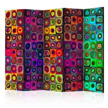 "Paravent 5 Volets ""Colorful Abstract Art"" 172x225cm"