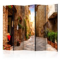 """Paravent 5 Volets """"Colourful Street in Tuscany"""" 172x225cm"""