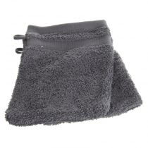Lot de 2 Gants de Toilette 15x21cm Gris Anthracite