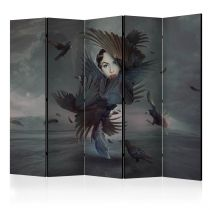 """Paravent 5 Volets """"Covered in Feathers"""" 172x225cm"""