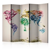 "Paravent 5 Volets ""Dancing Smoke Trails"" 172x225cm"