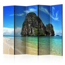 "Paravent 5 Volets ""Exotic Landscape in Thailand, Railay Beach"" 172x225cm"