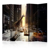 "Paravent 5 Volets ""Giraffe in the Big City"" 172x225cm"