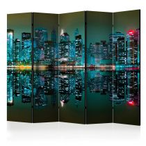 """Paravent 5 Volets """"Gold Reflections NYC"""" 172x225cm"""