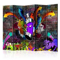 "Paravent 5 Volets ""Graffiti : Colourful Attack"" 172x225cm"