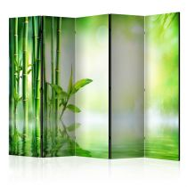 """Paravent 5 Volets """"Green Bamboo"""" 172x225cm"""