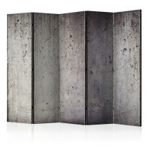 "Paravent 5 Volets ""Grey City"" 172x225cm"