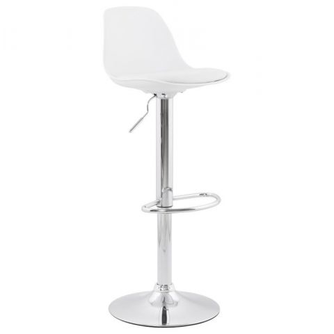 "Tabouret de Bar ""Queen"" 104cm Blanc"