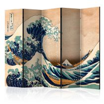 """Paravent 5 Volets """"Hokusai : the Great Wave off Kanagawa Reproduction"""" 172x225cm"""