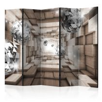 """Paravent 5 Volets """"In a Wooden Tunnel"""" 172x225cm"""