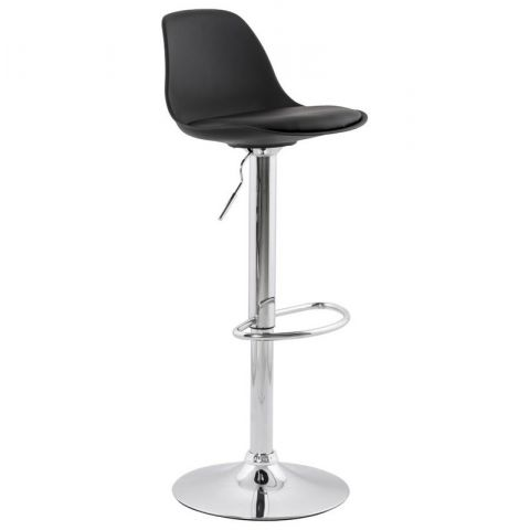 "Tabouret de Bar ""Queen"" Noir"
