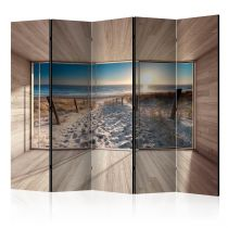 "Paravent 5 Volets ""Modern Lounge : By the Sea"" 172x225cm"
