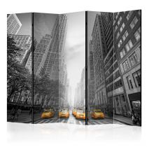 """Paravent 5 Volets """"New York Yellow Taxis"""" 172x225cm"""