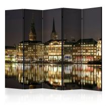 "Paravent 5 Volets ""Night in Hamburg"" 172x225cm"