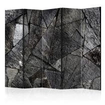 "Paravent 5 Volets ""Pavement Tiles Grey"" 172x225cm"