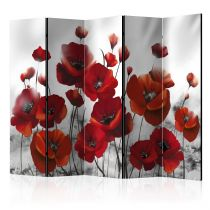 "Paravent 5 Volets ""Poppies in the Moonlight"" 172x225cm"