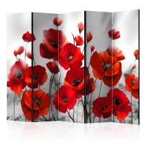 """Paravent 5 Volets """"Poppies in the Moonlight"""" 172x225cm"""