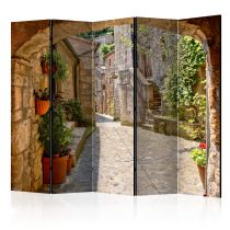 """Paravent 5 Volets """"Provincial Alley in Tuscany"""" 172x225cm"""