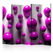 "Paravent 5 Volets ""Purple Balls"" 172x225cm"