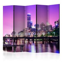 "Paravent 5 Volets ""Purple Melbourne"" 172x225cm"