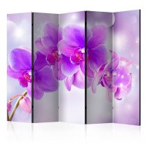 "Paravent 5 Volets ""Purple Orchids"" 172x225cm"