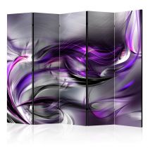 "Paravent 5 Volets ""Purple Swirls"" 172x225cm"